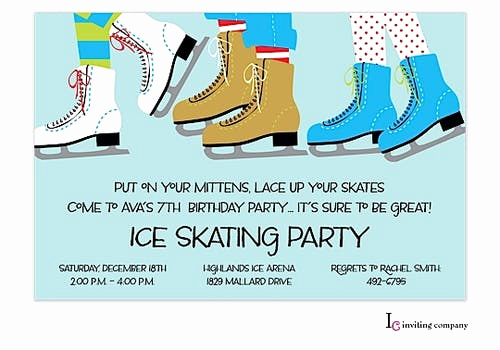 Ice Skate Party Invitation Elegant Ice Skating Party Invitation Printswell