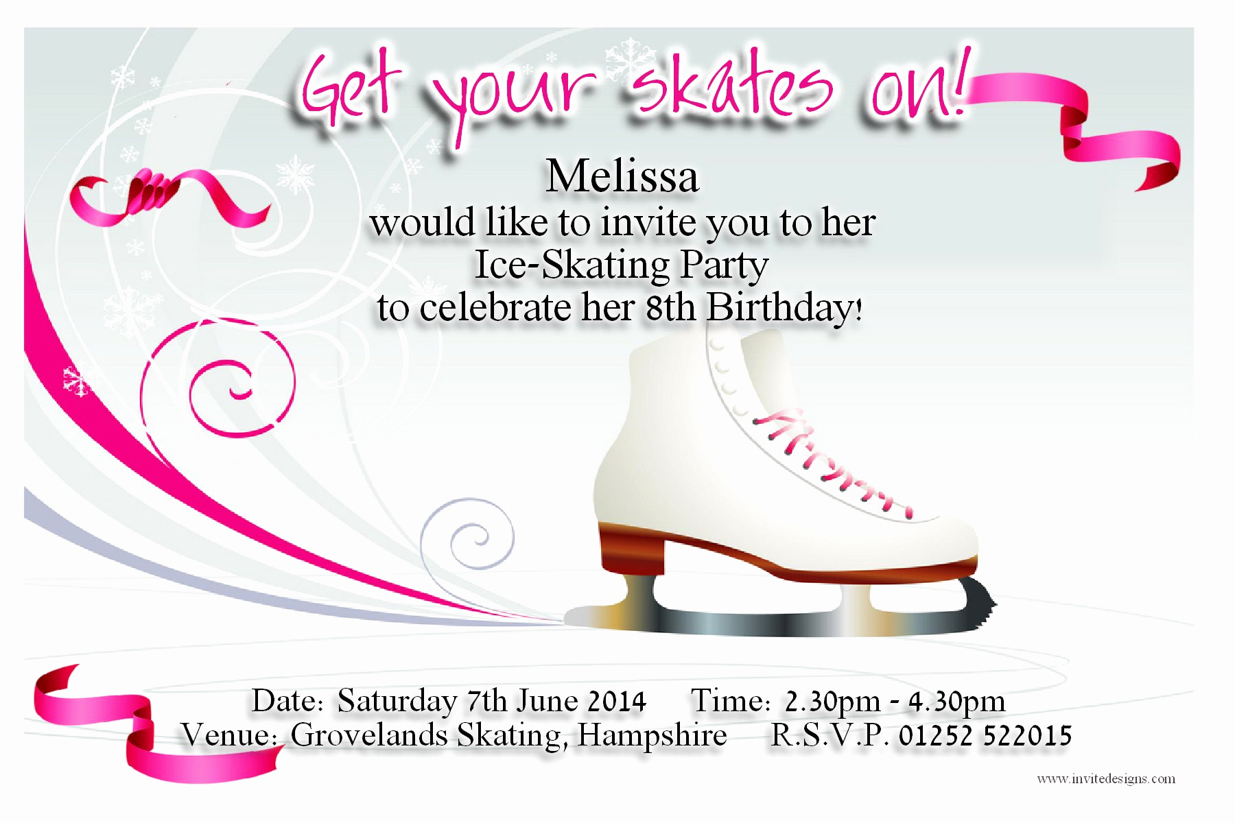 Ice Skate Party Invitation Fresh Ice Skating Birthday Party Invitations