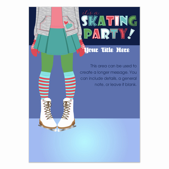 Ice Skate Party Invitation Fresh Ice Skating Party Invitations & Cards On Pingg