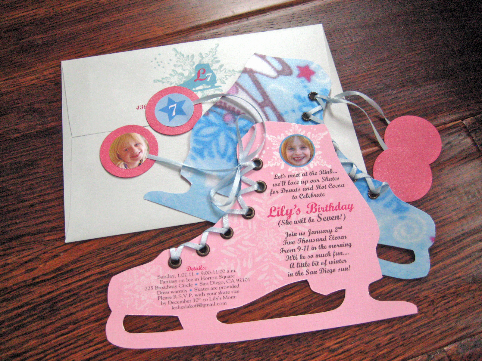 Ice Skate Party Invitation Fresh Season's Greetings – Eitak's Custom Cards 2010