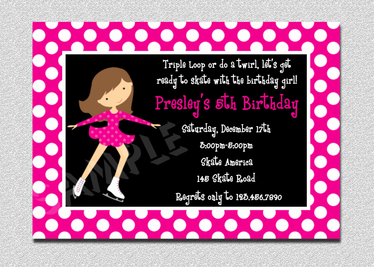 Ice Skate Party Invitation Inspirational Ice Skating Birthday Invitations Ice Skating Party
