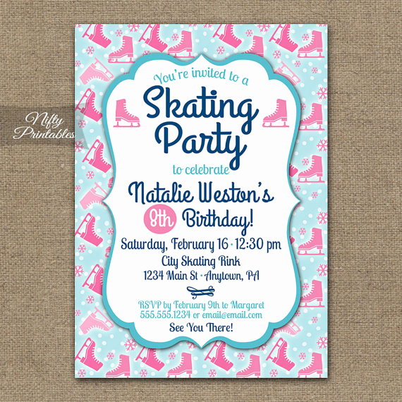Ice Skate Party Invitation Unique Items Similar to Ice Skating Party Invitations Ice