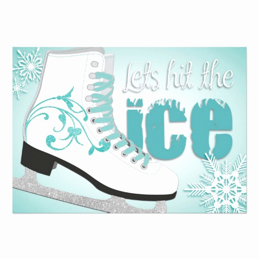 "Ice Skating Party Invitation Awesome Lets Hit the Ice Skating Invitation 5"" X 7"" Invitation"