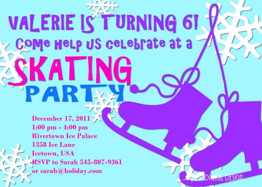 Ice Skating Party Invitation Best Of Ice Skating Party Invitation Birthday Customizable Printable