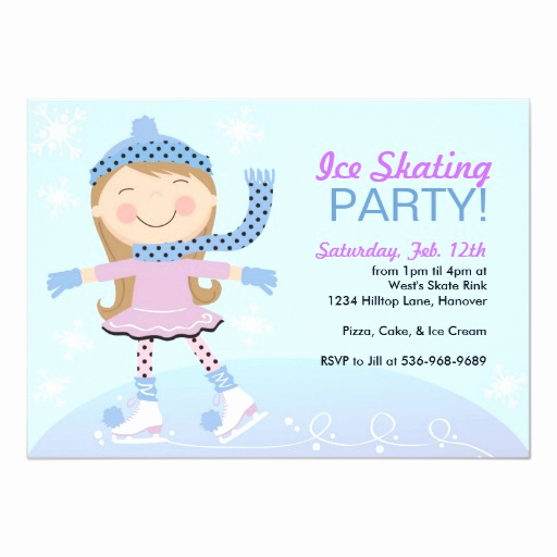 Ice Skating Party Invitation Best Of Ice Skating Party Invitations with Girl Skating