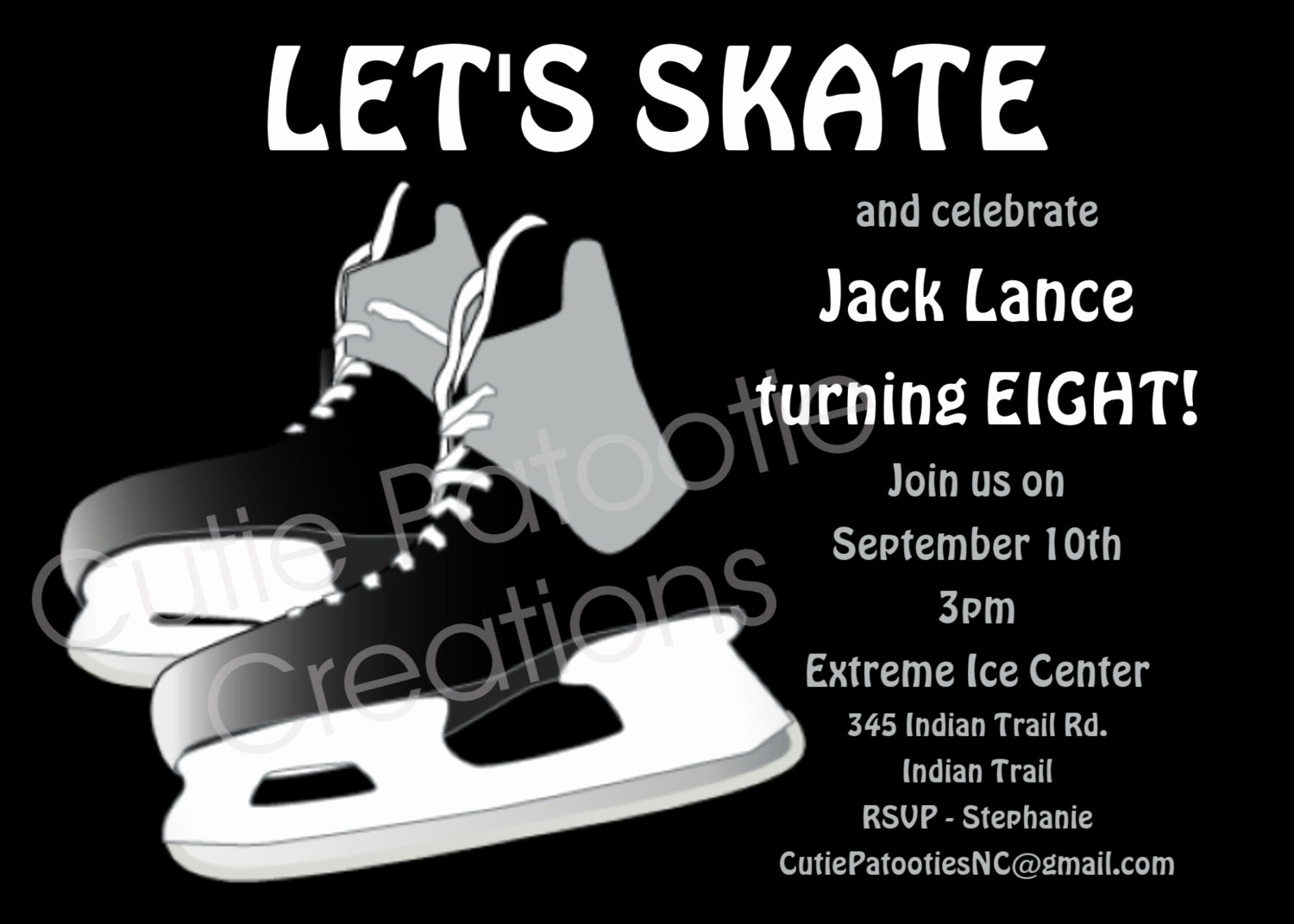 Ice Skating Party Invitation Elegant Boys Ice Hockey Birthday Invitation Printable Invite