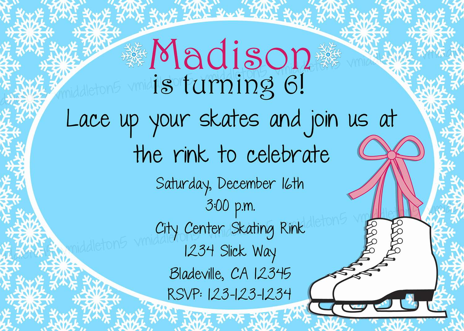 Ice Skating Party Invitation Elegant Ice Skating Birthday Party Invitation Print Your by