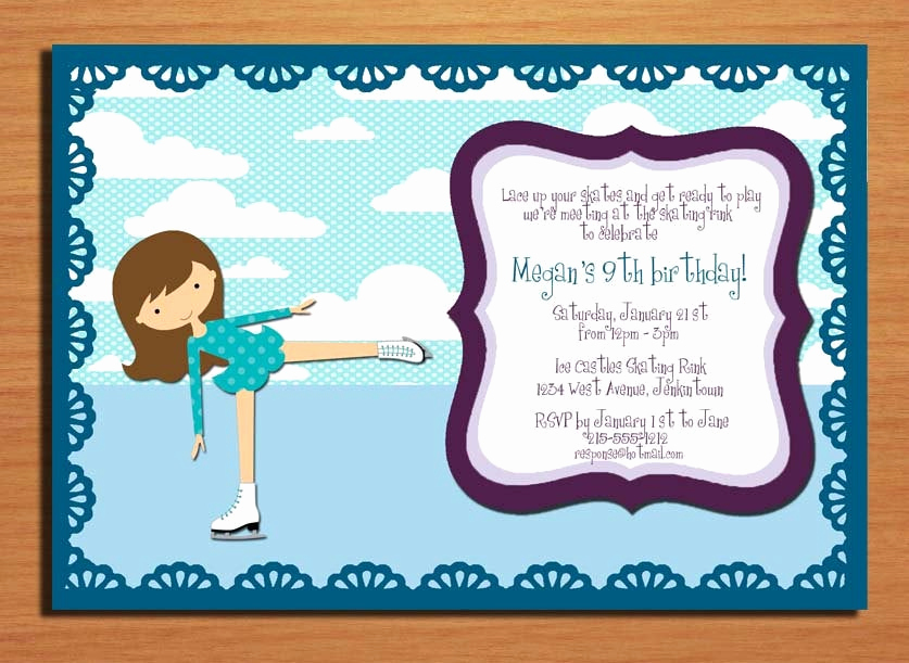 Ice Skating Party Invitation Inspirational Items Similar to Ice Skating Birthday Party Invitation