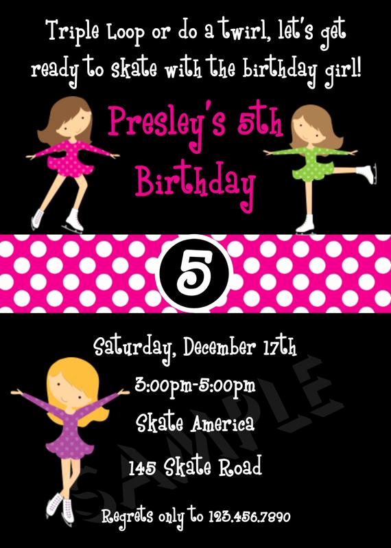 Ice Skating Party Invitation Lovely Ice Skating Birthday Invitations Ice Skating Party Invitation