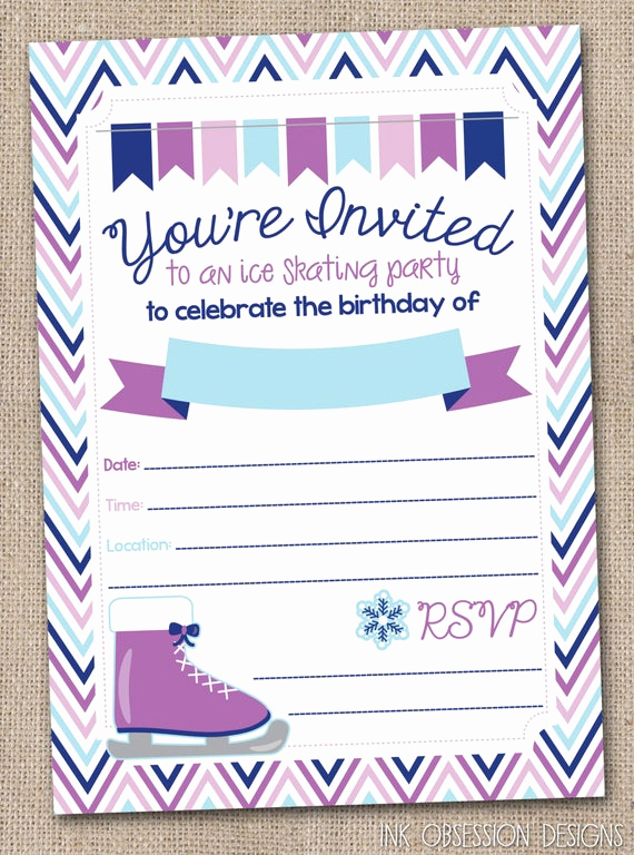 Ice Skating Party Invitation Lovely Instant Download Ice Skating Birthday Party by