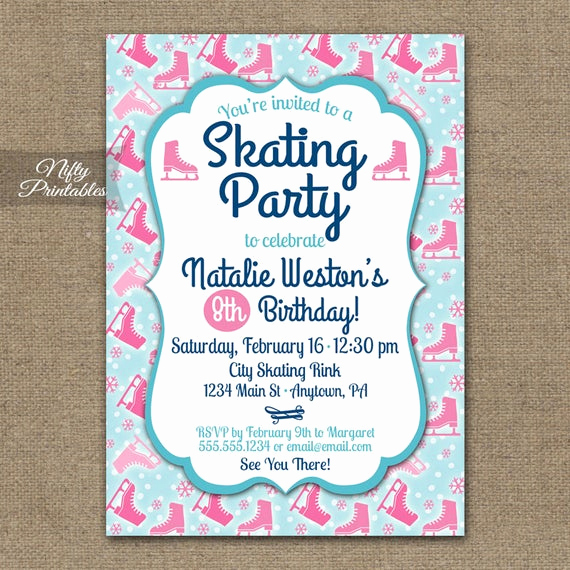 Ice Skating Party Invitation New Items Similar to Ice Skating Party Invitations Ice