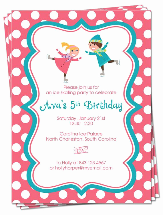 Ice Skating Party Invitation Unique Items Similar to Printable Ice Skating Party Invitation