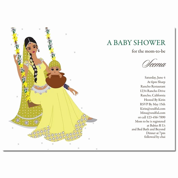Indian Baby Shower Invitation Beautiful Indian Baby Shower Invitations Jhula Baby