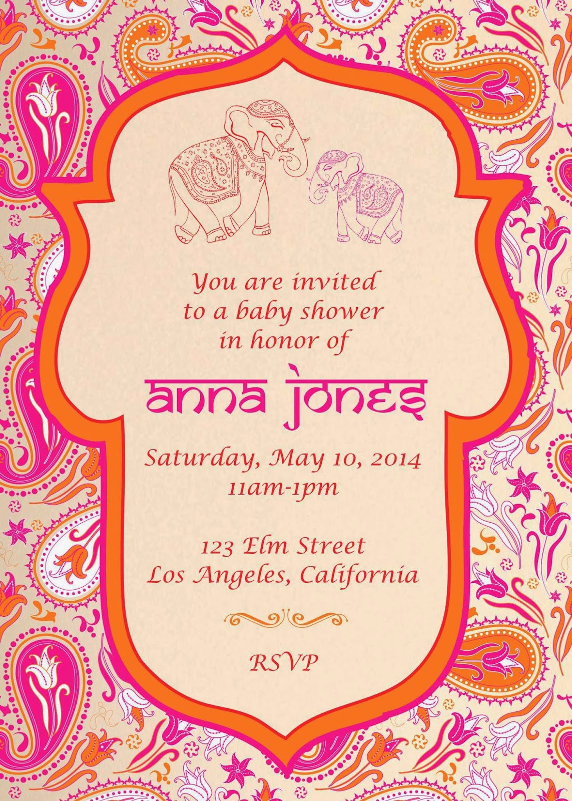 Indian Baby Shower Invitation Elegant Inviteink
