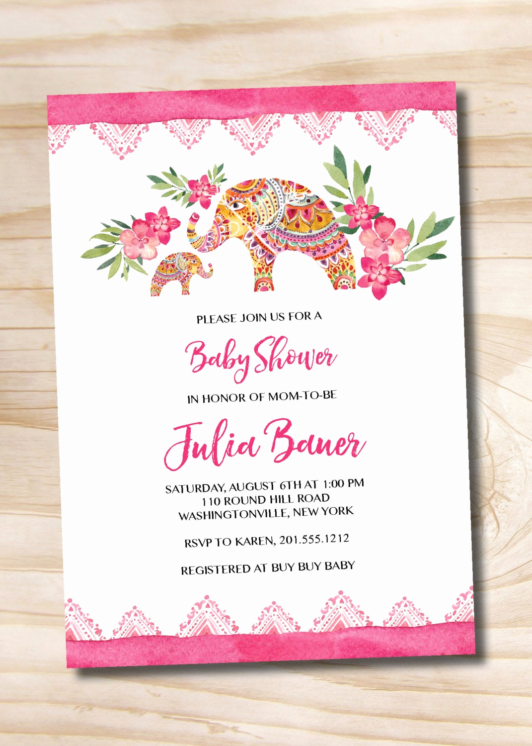 Indian Baby Shower Invitation Unique Boho Indian Floral Baby Shower Invitation Printable Digital