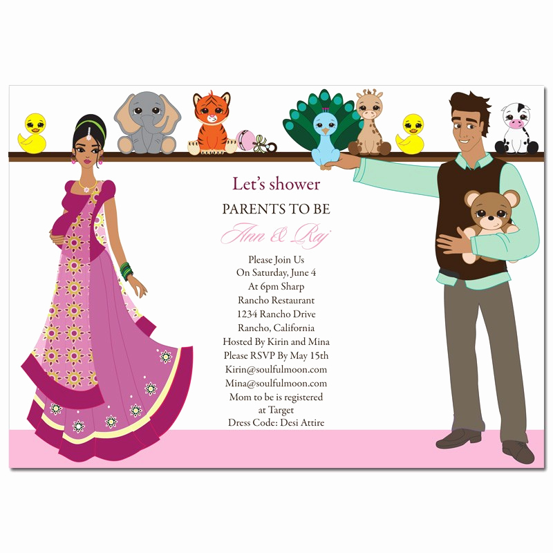 Indian Baby Shower Invitation Wording Elegant Indian Baby Shower Invitation Templates – Party Xyz