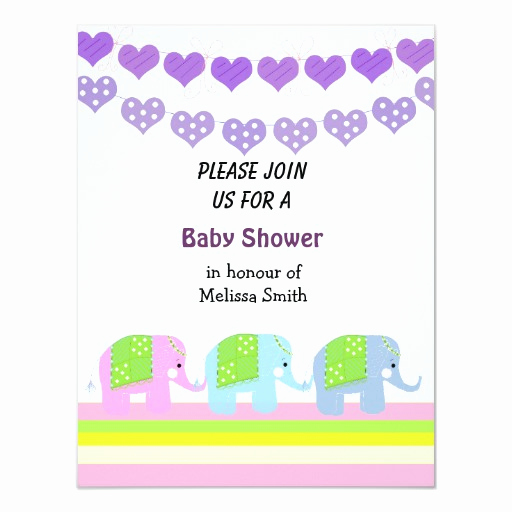 Indian Baby Shower Invitation Wording Fresh Indian Elephants Baby Shower Invitation