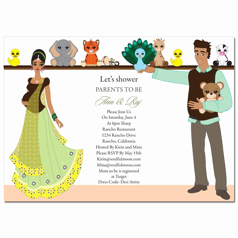 Indian Baby Shower Invitation Wording Inspirational Indian Style Baby Shower Invitation Cards – Party Xyz