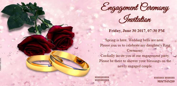 Indian Engagement Invitation Wording Beautiful Free Engagement Invitation Card Maker