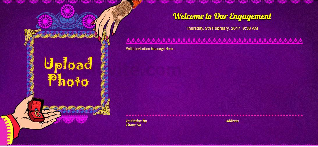 Indian Engagement Invitation Wording Elegant Free Engagement Invitation Card & Video Line Invitations