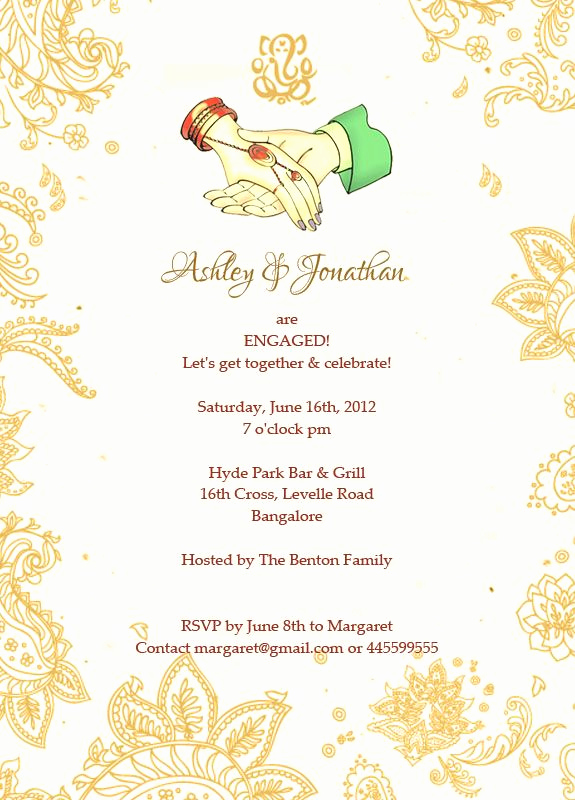 Indian Engagement Invitation Wording Inspirational Sanjog & Roshni are Ting Engaged Let S to Her