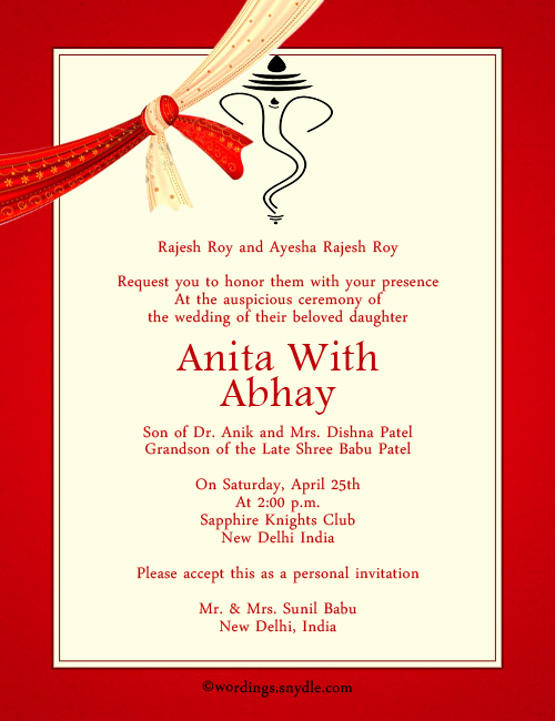 Indian Engagement Invitation Wording Lovely Indian Wedding Invitation Wording Samples Wordings and