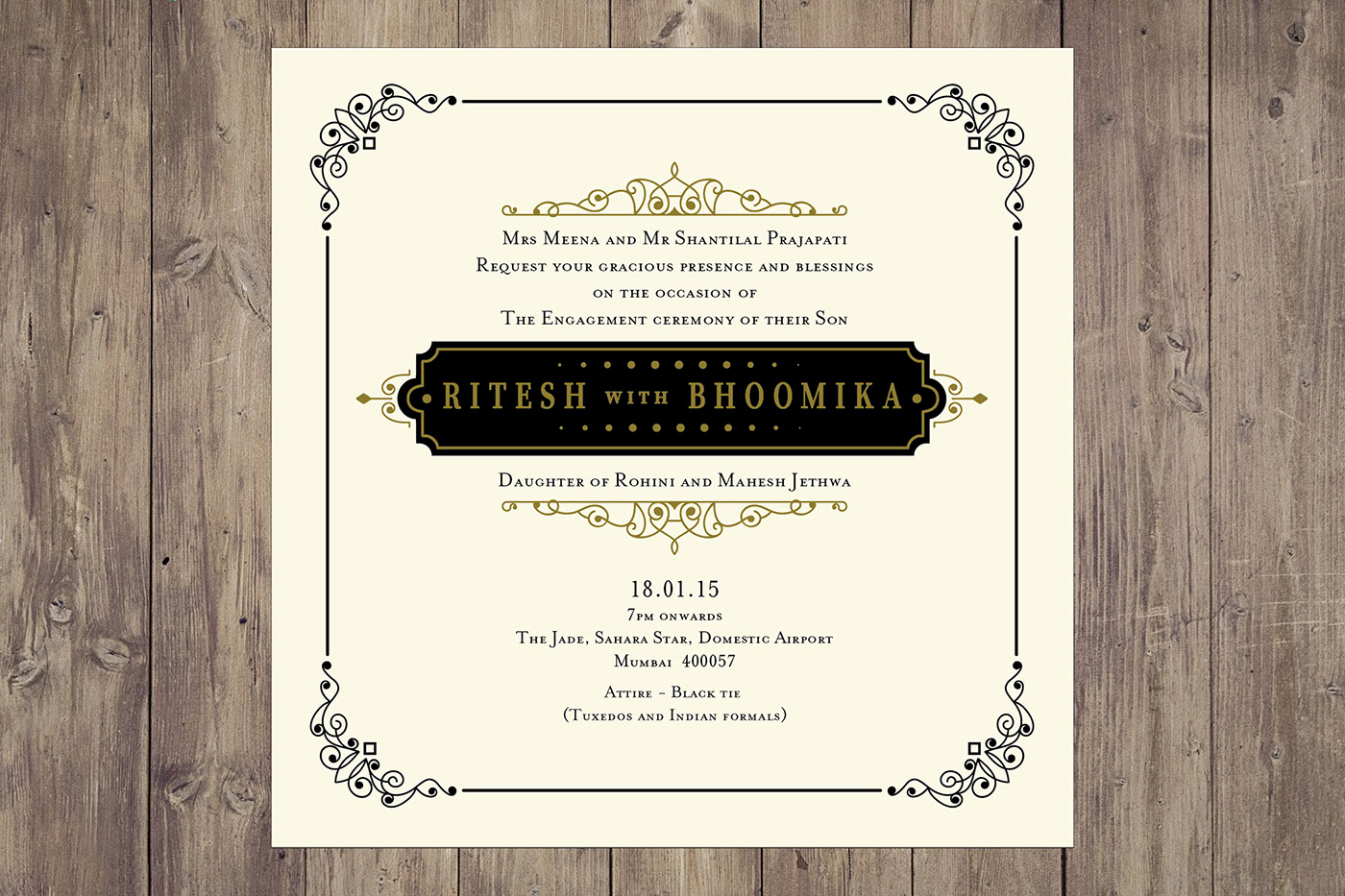 engagement invitation message and wording