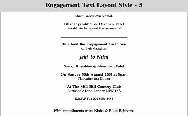Indian Engagement Invitation Wording Unique Engagement Invitation Wording 365greetings