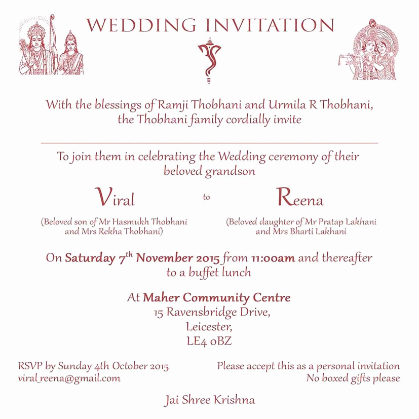 Indian Wedding Invitation Sample Awesome Hindu Wedding Invitation Wordings Here to View Our