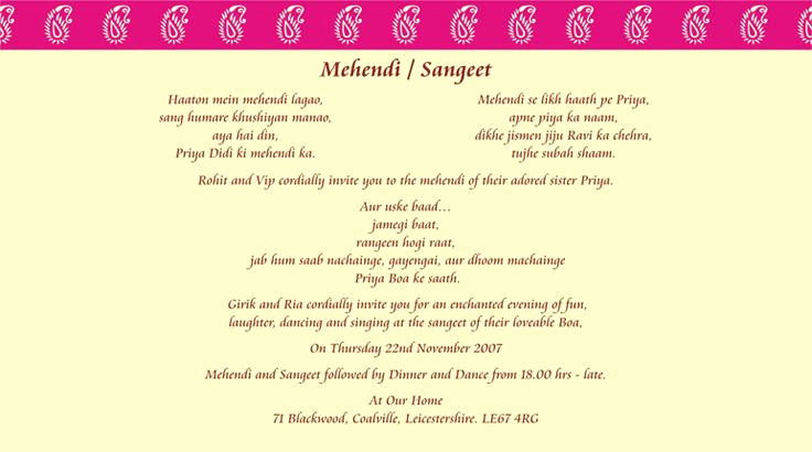 Indian Wedding Invitation Sample Elegant Indian Wedding Invitation Wording Template