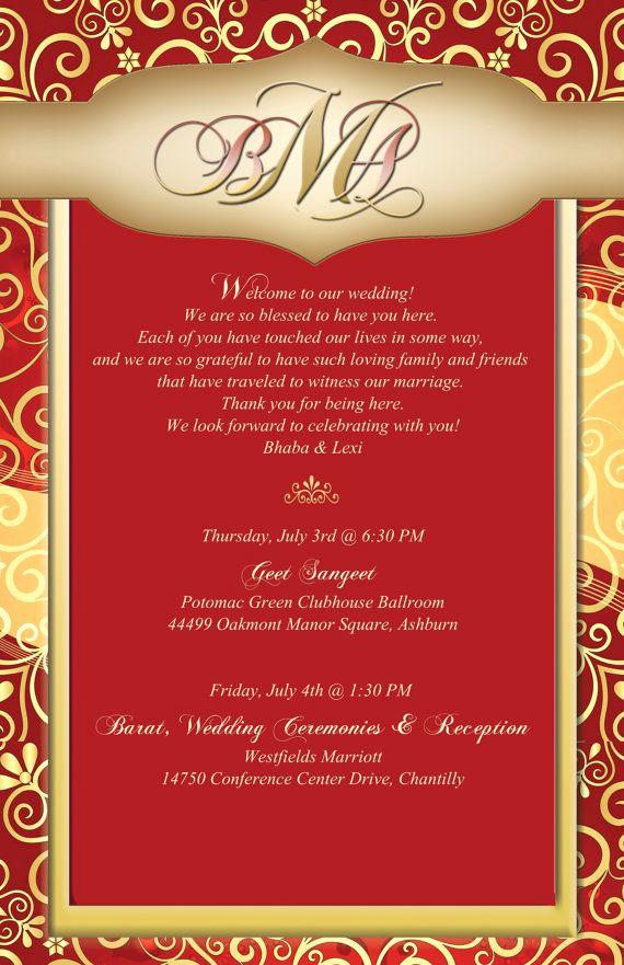 Indian Wedding Invitation Sample Inspirational 20 Indian Wedding Stationary