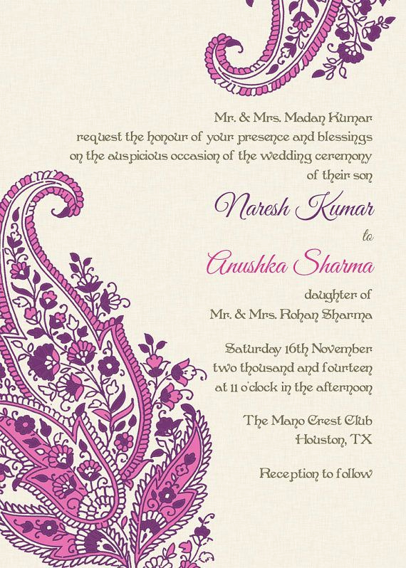 Indian Wedding Invitation Sample Lovely Indian Wedding Invitation Wording Template