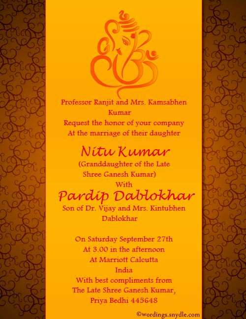 Indian Wedding Invitation Templates Awesome Indian Wedding Invitation Wording Samples Wordings and