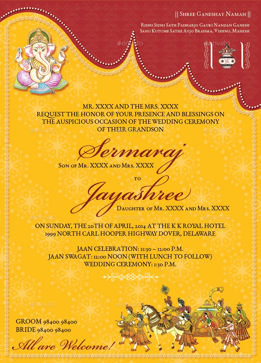 Indian Wedding Invitation Templates Elegant Image for Hindu Wedding Invitations Templates