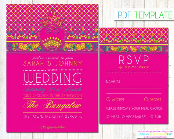 Indian Wedding Invitation Templates Unique 78 Best Ideas About Invitation Templates On Pinterest