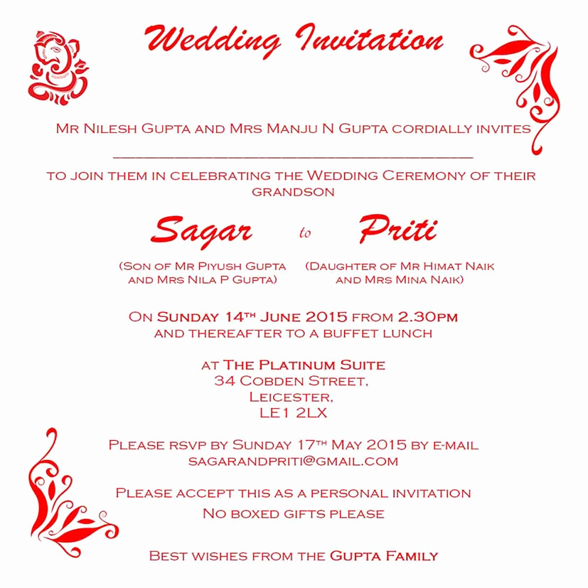 Indian Wedding Invitation Wording Fresh Hindu Wedding Invitation Wordings Here to View Our