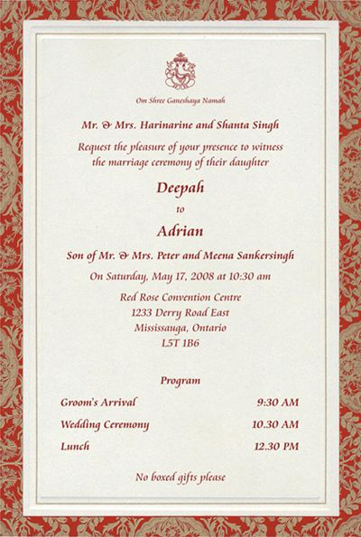 Indian Wedding Invitation Wording Inspirational to Magnify Shrink Cards In 2019