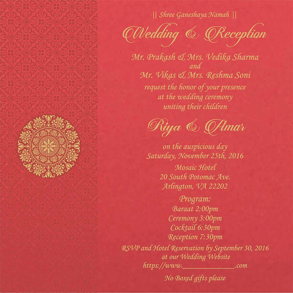 Indian Wedding Invitation Wording Inspirational Wedding Invitation Wording for Hindu Wedding Ceremony