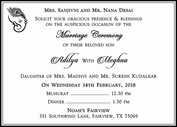 Indian Wedding Invitation Wording Lovely Hindu Wedding Cards Wordings