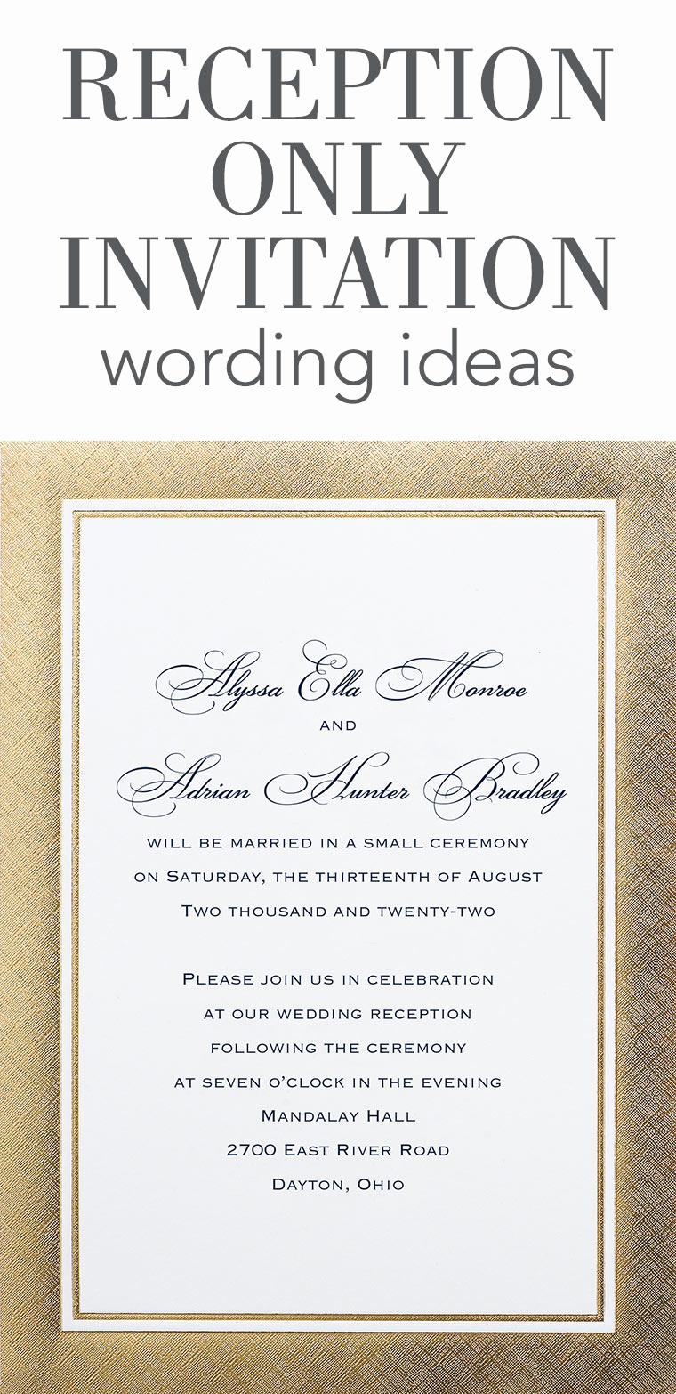 Indian Wedding Reception Invitation Wording Best Of Reception Ly Invitation Wording