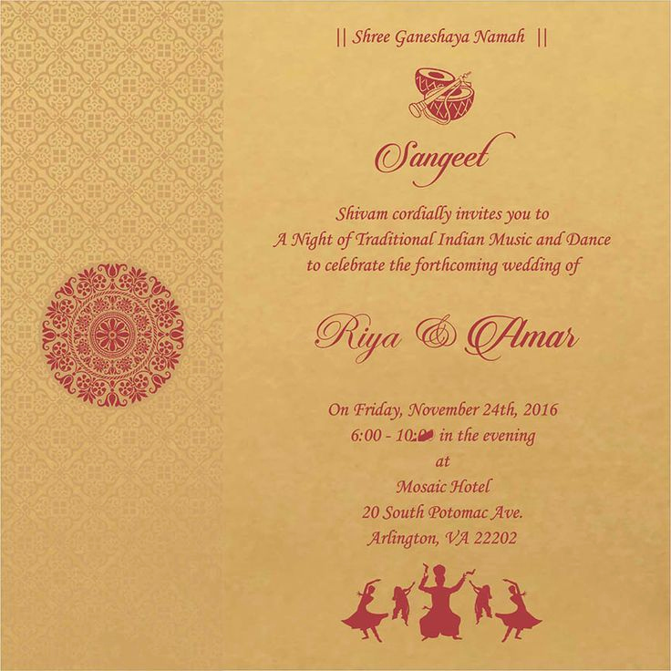 Indian Wedding Reception Invitation Wording Fresh Wedding Invitation Wording for Sangeet Ceremony