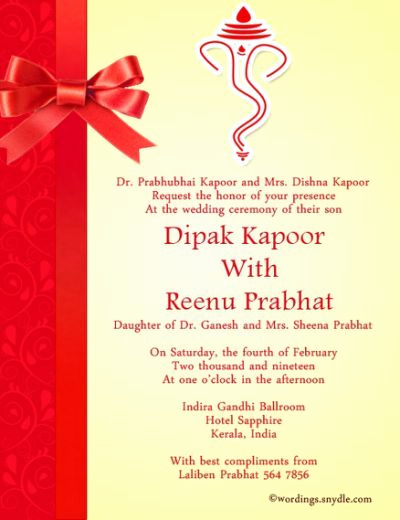 Indian Wedding Reception Invitation Wording Lovely Indian Wedding Invitation Wording