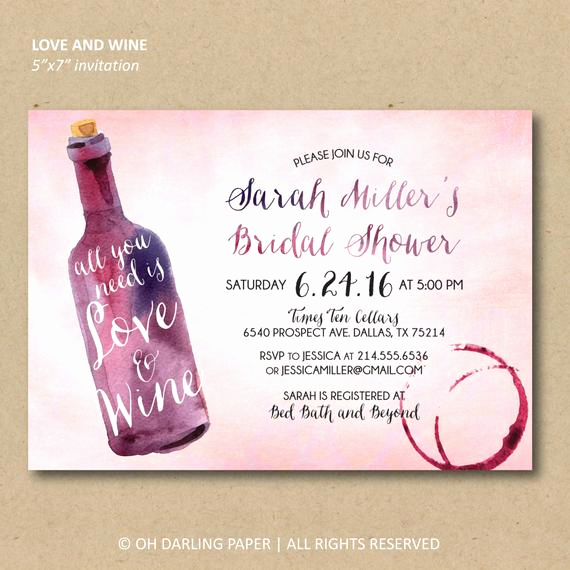 Inexpensive Bridal Shower Invitation Best Of Printable Bridal Shower Invitation Wine Shower Invitation