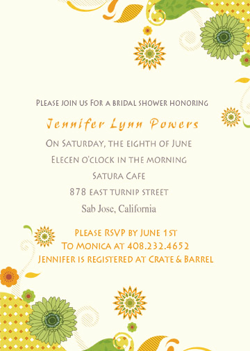 Inexpensive Bridal Shower Invitation Elegant Discount Yellow Sunflower Online Bridal Shower Invitations