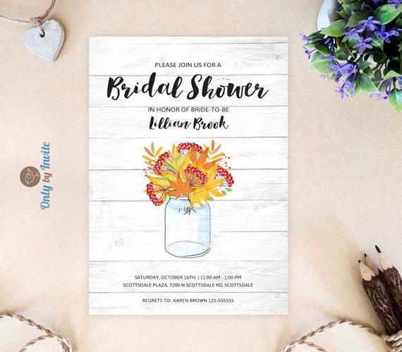 Inexpensive Bridal Shower Invitation Elegant Rustic Bridal Shower Invitations Cheap by Lybyinvite On Etsy
