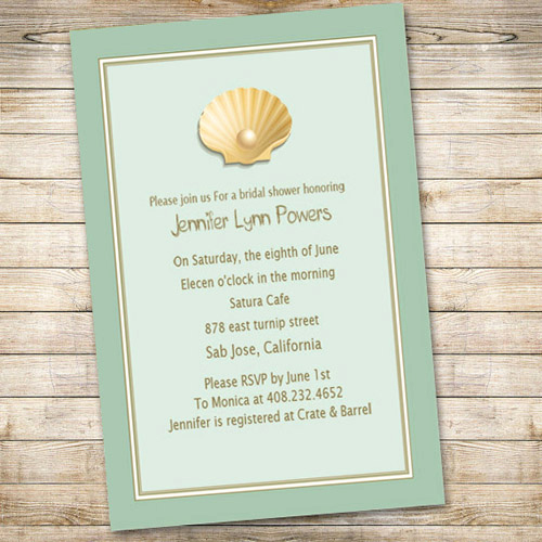 Inexpensive Bridal Shower Invitation Fresh Cheap Blue Beach Bridal Shower Invitations Ewbs032 as Low