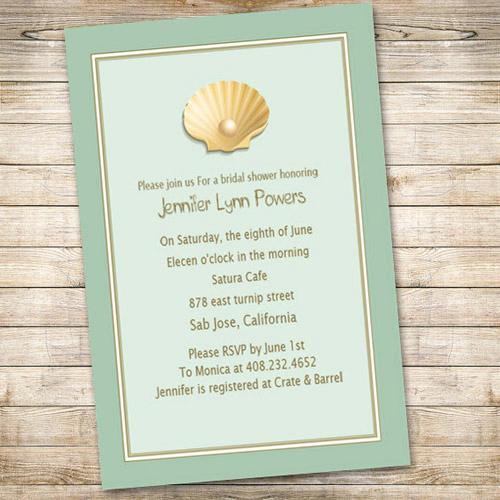 cheap blue beach bridal shower invitations ewbs032