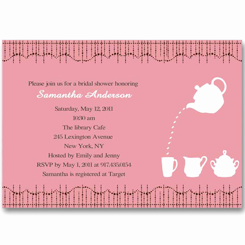 Inexpensive Bridal Shower Invitation Inspirational Cheap Print Pink Bridal Shower Tea Party Invitations