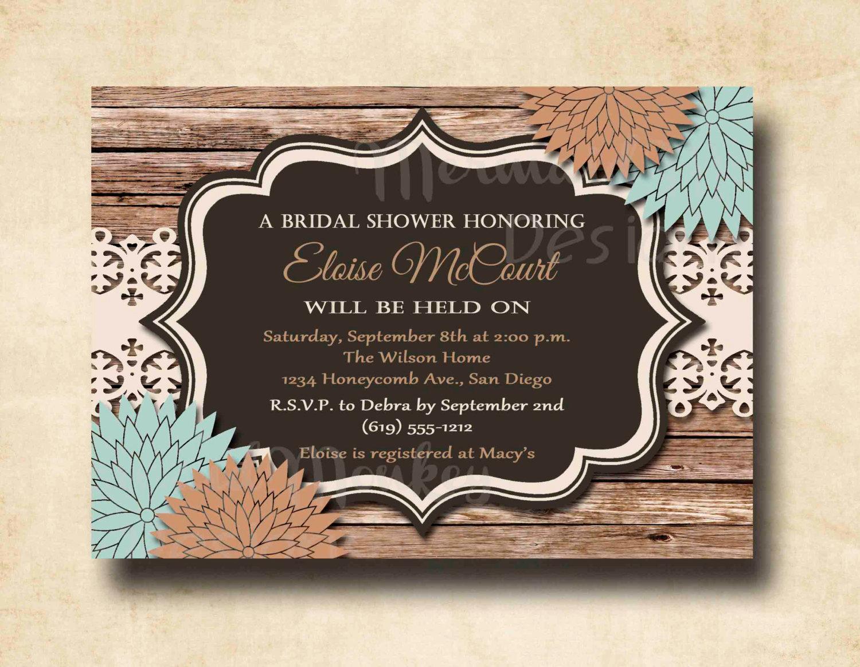 Inexpensive Bridal Shower Invitation Unique Rustic Bridal Shower Invitation Wedding by