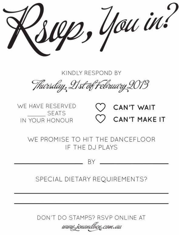 Informal Wedding Invitation Wording Beautiful Rsvp & song Request Wording